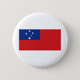 Samoa National Flag 6 Cm Round Badge