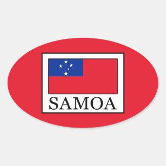 Samoa Oval Sticker