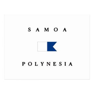 Samoa Polynesia Alpha Dive Flag Postcards