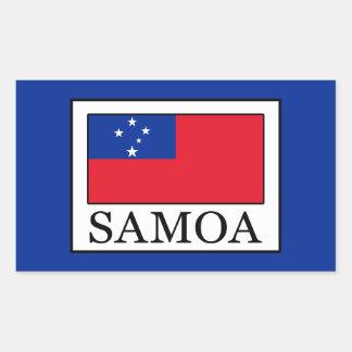 Samoa Rectangular Sticker