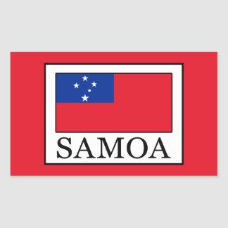 Samoa Rectangular Sticker