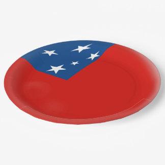 Samoa Samoan Flag Paper Plate