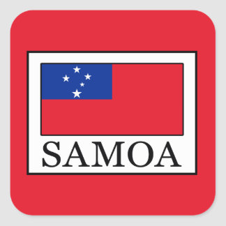 Samoa Square Sticker
