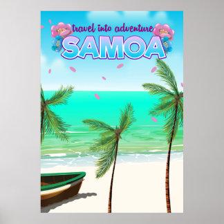 "Samoa ""travel into adventure"" travel poster. poster"