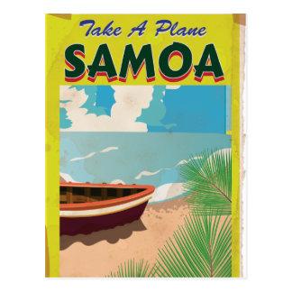 Samoa Vintage Travel Poster Postcard