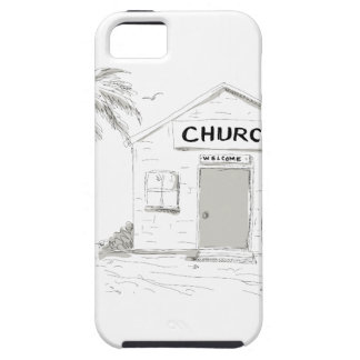 Samoan Boy Stand By Church Cartoon iPhone 5 Case