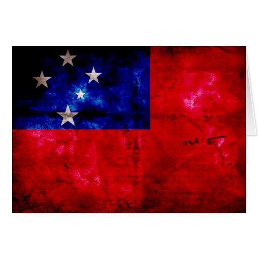 Samoan Flag Card