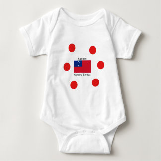 Samoan Language And Samoa Flag Design Baby Bodysuit