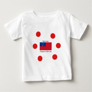 Samoan Language And Samoa Flag Design Baby T-Shirt