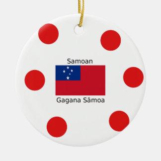 Samoan Language And Samoa Flag Design Ceramic Ornament