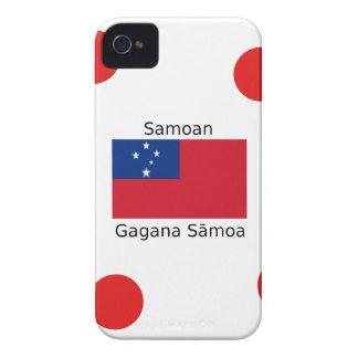 Samoan Language And Samoa Flag Design iPhone 4 Case-Mate Case