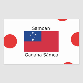 Samoan Language And Samoa Flag Design Rectangular Sticker