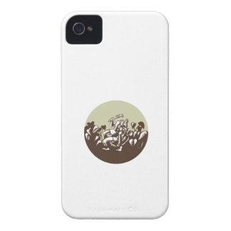 Samoan Losi Club Nifo'oti Weapon Circle Woodcut iPhone 4 Covers
