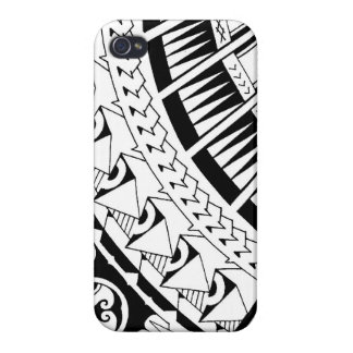 Samoan spearhead tattoo by Mark Storm iPhone 4 Cover