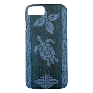 Samoan Tapa Hawaiian Faux Wood Surfboard iPhone 7 Case
