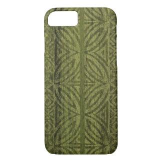 Samoan Tapa Hawaiian Faux Wood Surfboard iPhone 8/7 Case