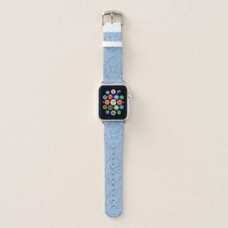 Samoan Tapa Hawaiian Light Denim Blue Apple Watch Band