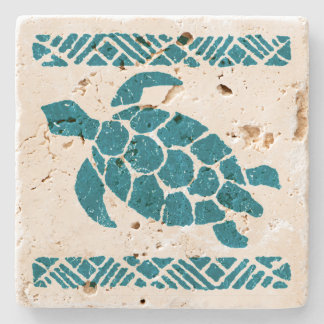 Samoan Tapa Hawaiian Tiki Bar Stone Coaters Stone Coaster
