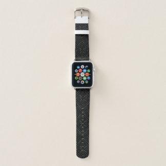 Samoan Tapa Hawaiian Tonal Black Apple Watch Band