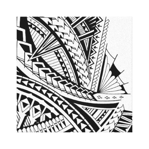tattoo drawings tribal tattoo canvas Zazzle art Samoan  stretched tribal print