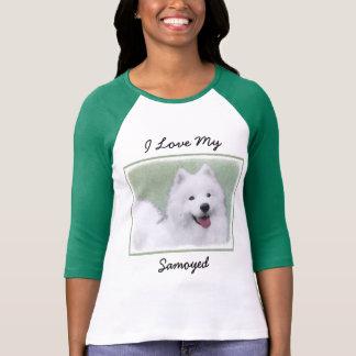 Samoyed 2 Painting - Cute Original Dog Art T-Shirt