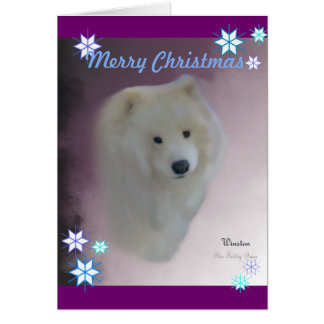 Samoyed A7 Greeting Card,  w/envelope Card