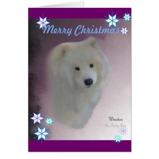 Samoyed A7 Greeting Card,  w/envelope Greeting Card