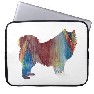 Samoyed art laptop sleeve