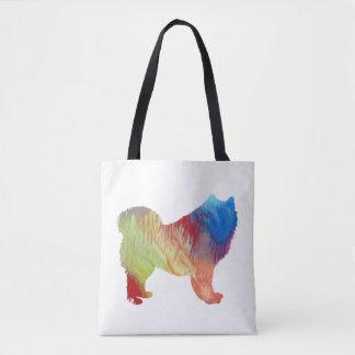 Samoyed art tote bag