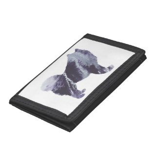 Samoyed art trifold wallets