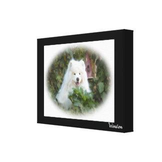 """Samoyed Art Wrapped Canvas  24"""" x 18"""", 1.5"""""""