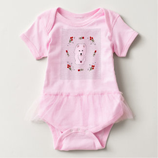 Samoyed Baby Tutu Bodysuit - Newborn-24 Mo. Sizes