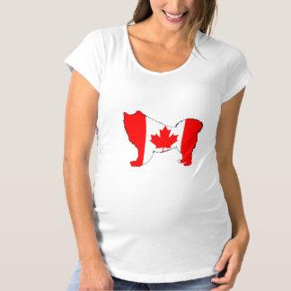 Samoyed Canada Maternity T-Shirt