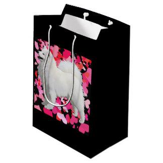 Samoyed Custom Gift Bag - Medium, Matte