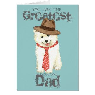 Samoyed Dad Card