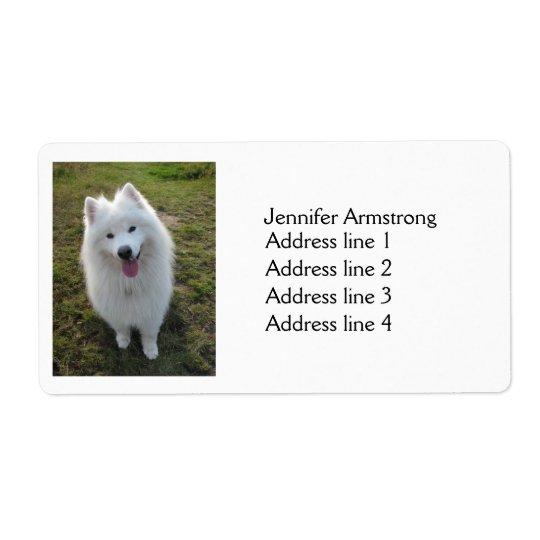 Samoyed dog beautiful photo custom address labels