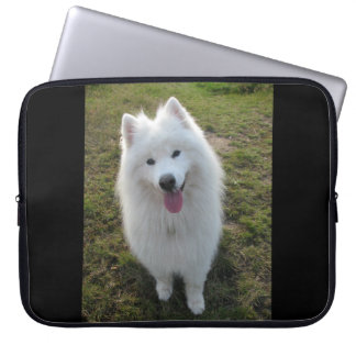 Samoyed dog beautiful photo laptop bag