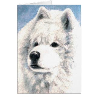 Samoyed Dog Blank Card