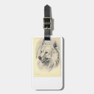 Samoyed Dog Luggage Tag