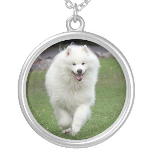 Samoyed dog necklace, gift idea