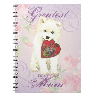 Samoyed Heart Mom Notebook