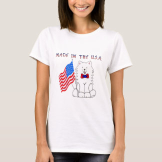 Samoyed Made In The USA T-Shirt