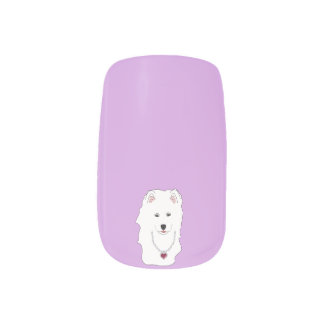 Samoyed Minx Nail Art Decals-Full Manicure Set