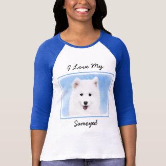 Samoyed Puppy Painting - Cute Original Dog Art T-Shirt
