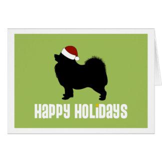 Samoyed Santa Hat Card