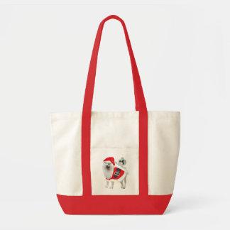 Samoyed Santa paws Tote Bag