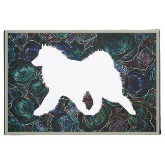 "Samoyed Side Gait 24""x36""  Exquisite Door Mat"