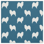 Samoyed Silhouettes Pattern Fabric