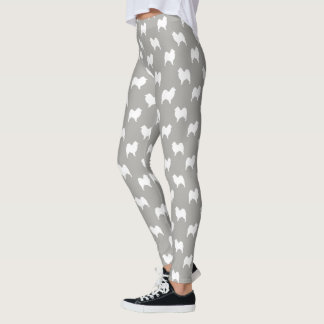 Samoyed Silhouettes Pattern Leggings