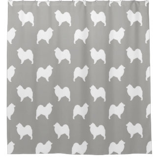 Samoyed Silhouettes Pattern Shower Curtain